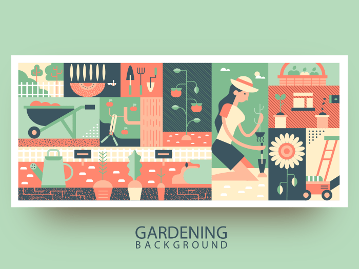 Gardening abstract background