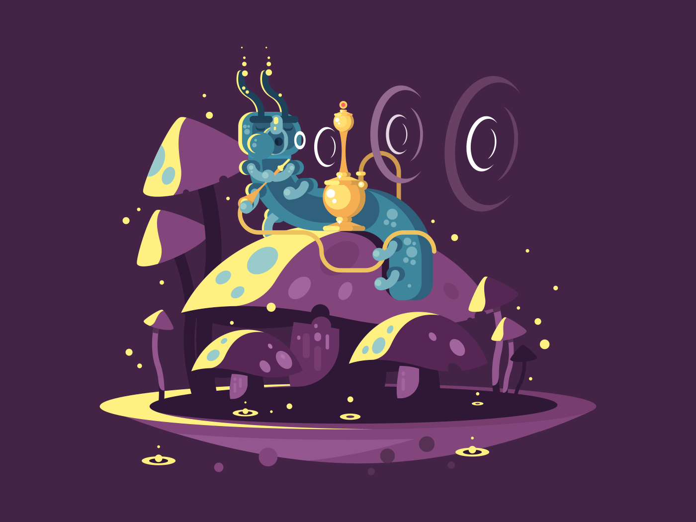 Absolem character from Alice in wonderland flat vector illustration