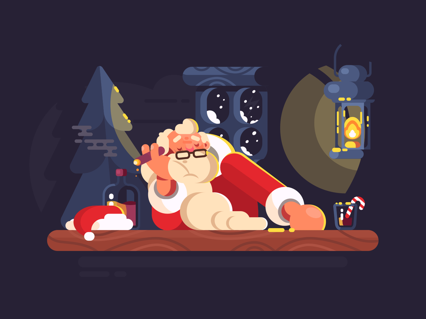 Bad Santa Claus illustration