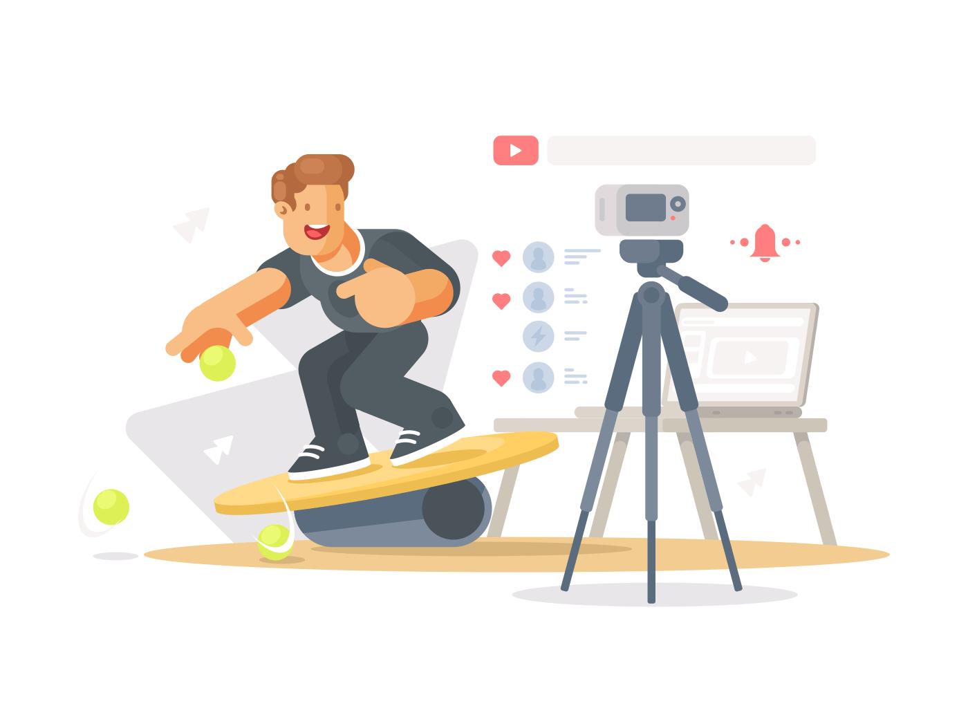 Blogger shoots video illustration