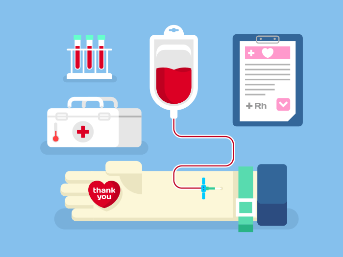 Blood donation concept flat vector illustration