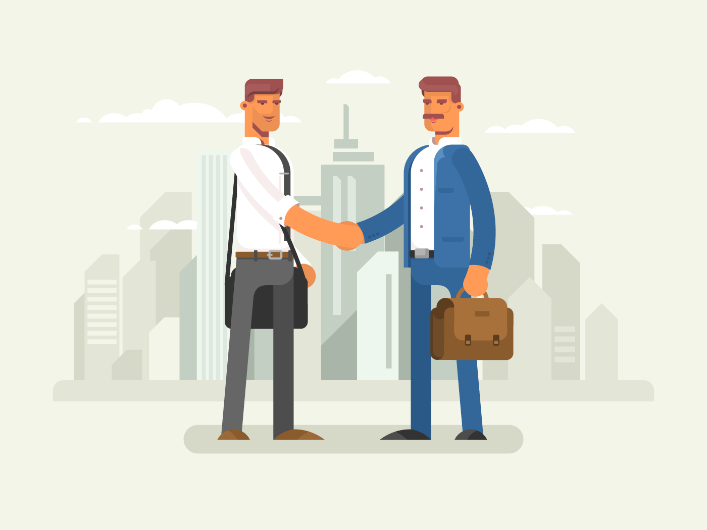 Business partners flat vector illustration