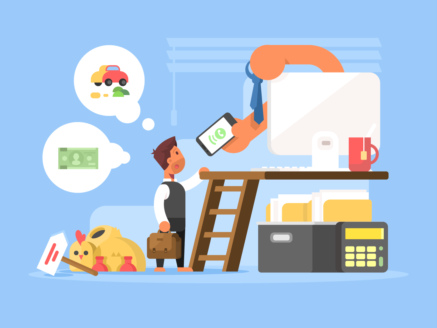 Career flat vector illustration