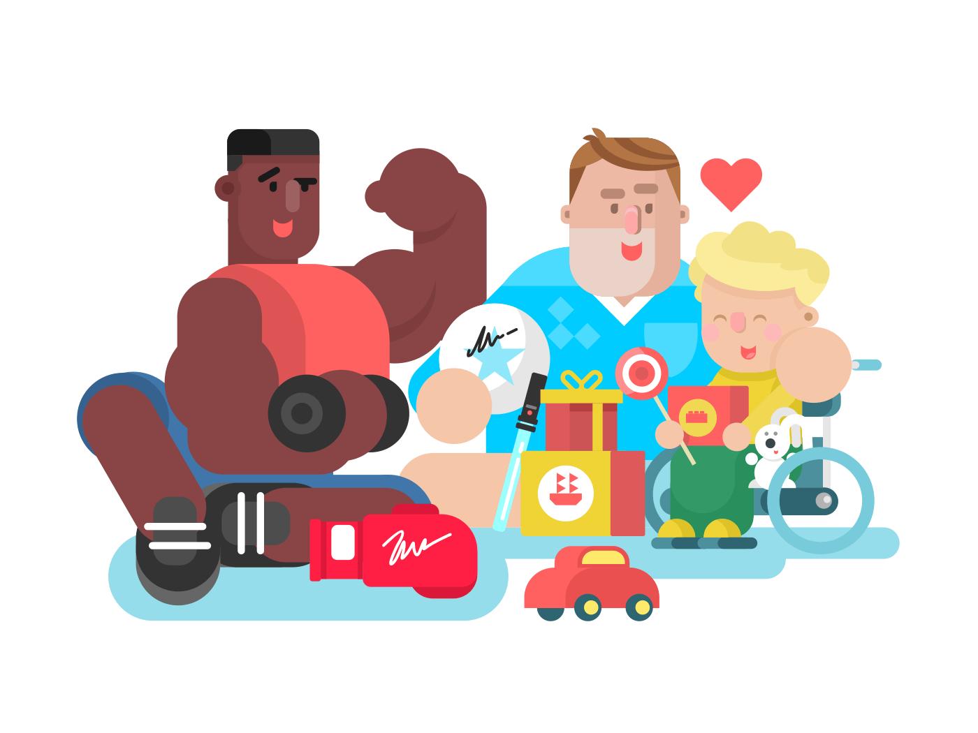Charity flat vector illustration