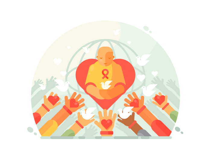 Charity and help illustration