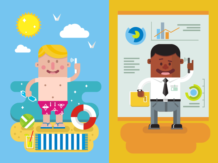 Colleagues communication flat vector illustration