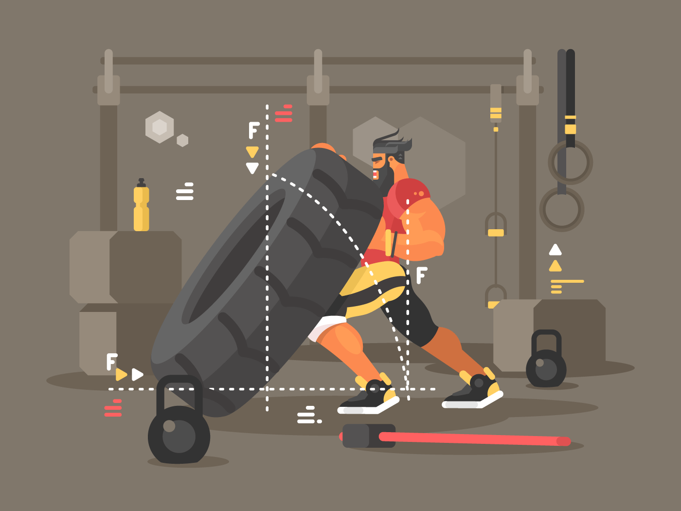 Workout flat vector illustration