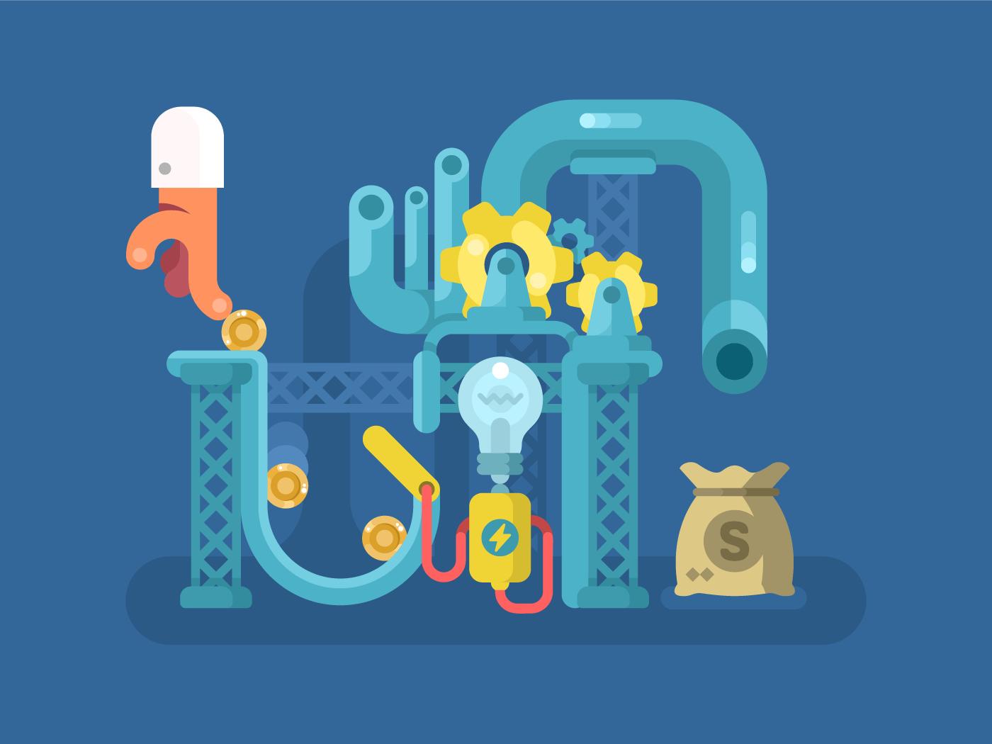 Crowdfunding flat vector illustration