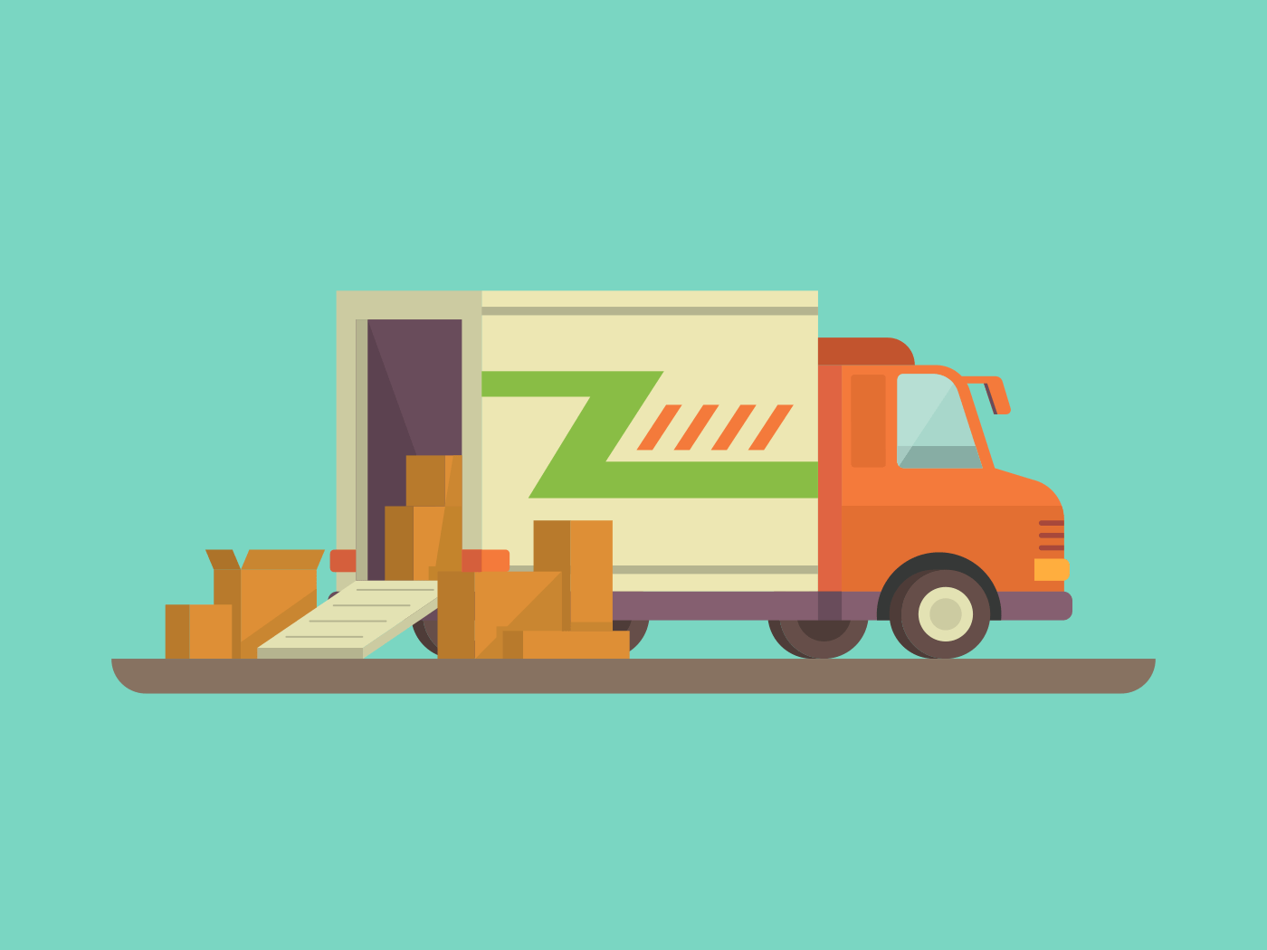 Delivery truck illustration