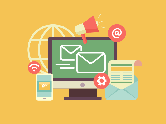 Email marketing flat illustration