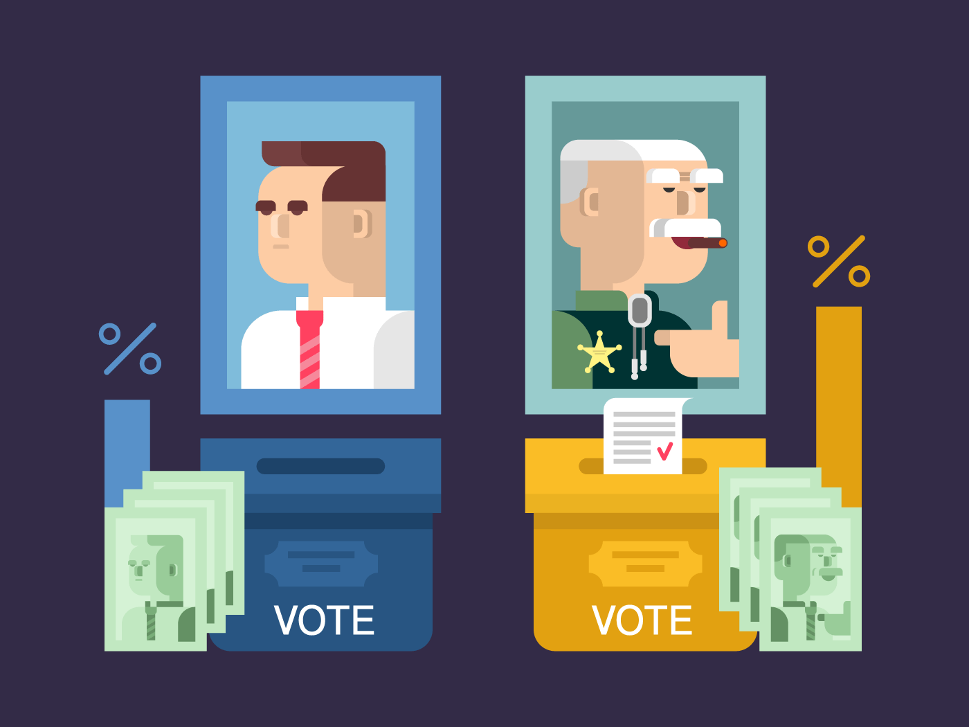 Concept elections flat vector illustration