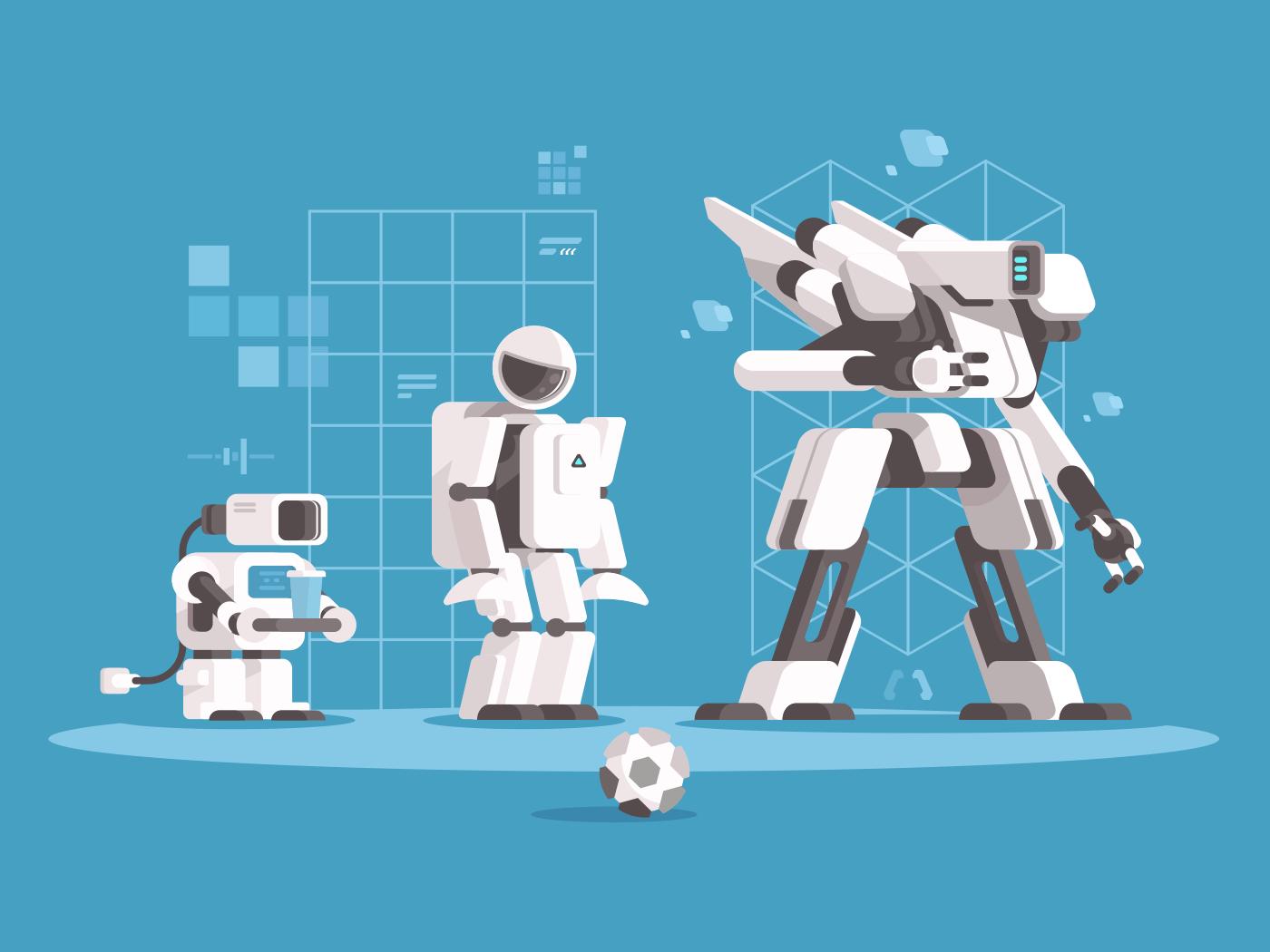 Evolution of robotics illustration