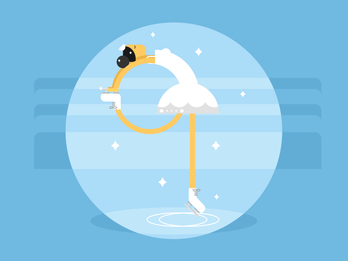 Figure skating flat style vector illustration