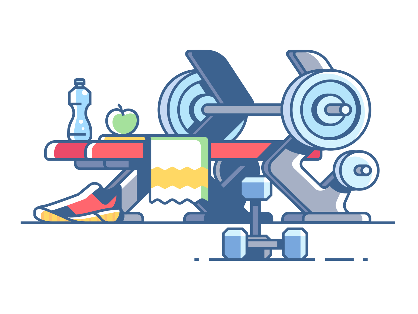 Sports and fitness illustration