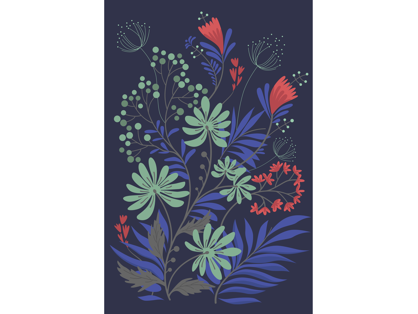 Flower colored background