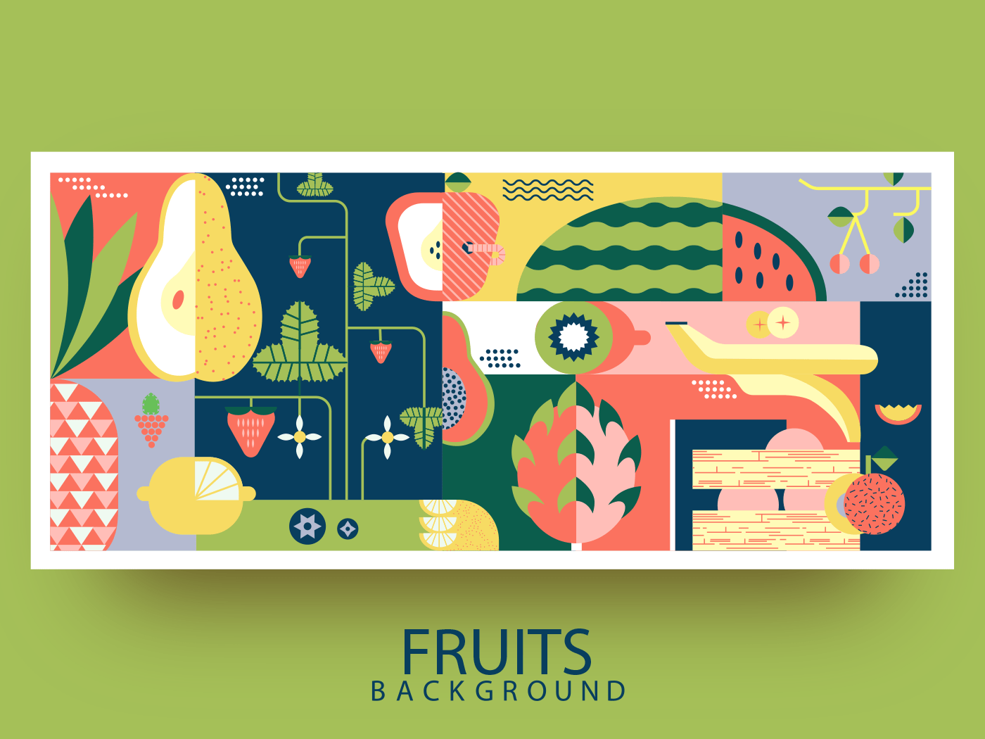 Fruit background abstract background