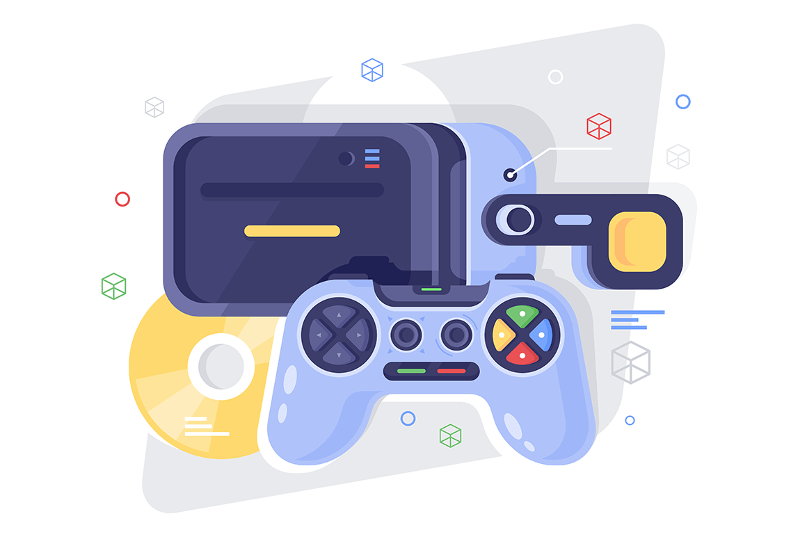 Flat gamepad for game, disk and vr helmet.