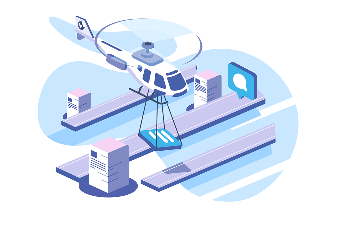 Delivery documents data helicopter