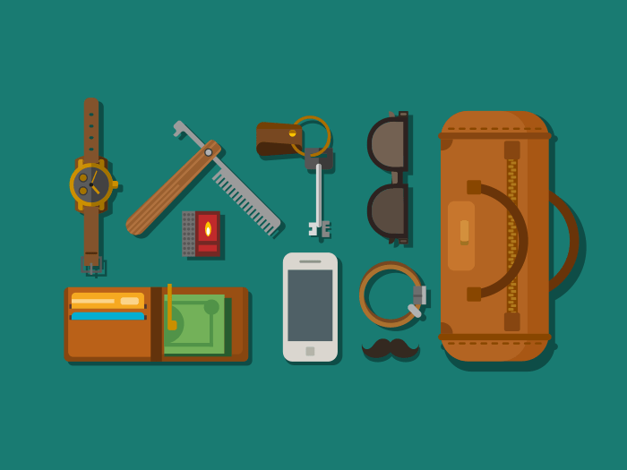 Hipster elements icons