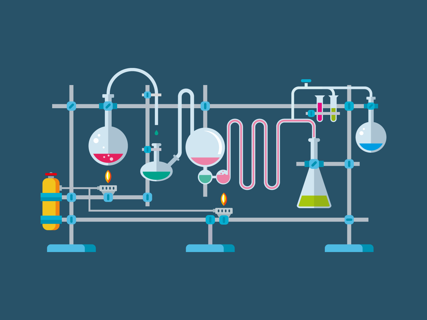 Chemical Laboratory Equipment illustration