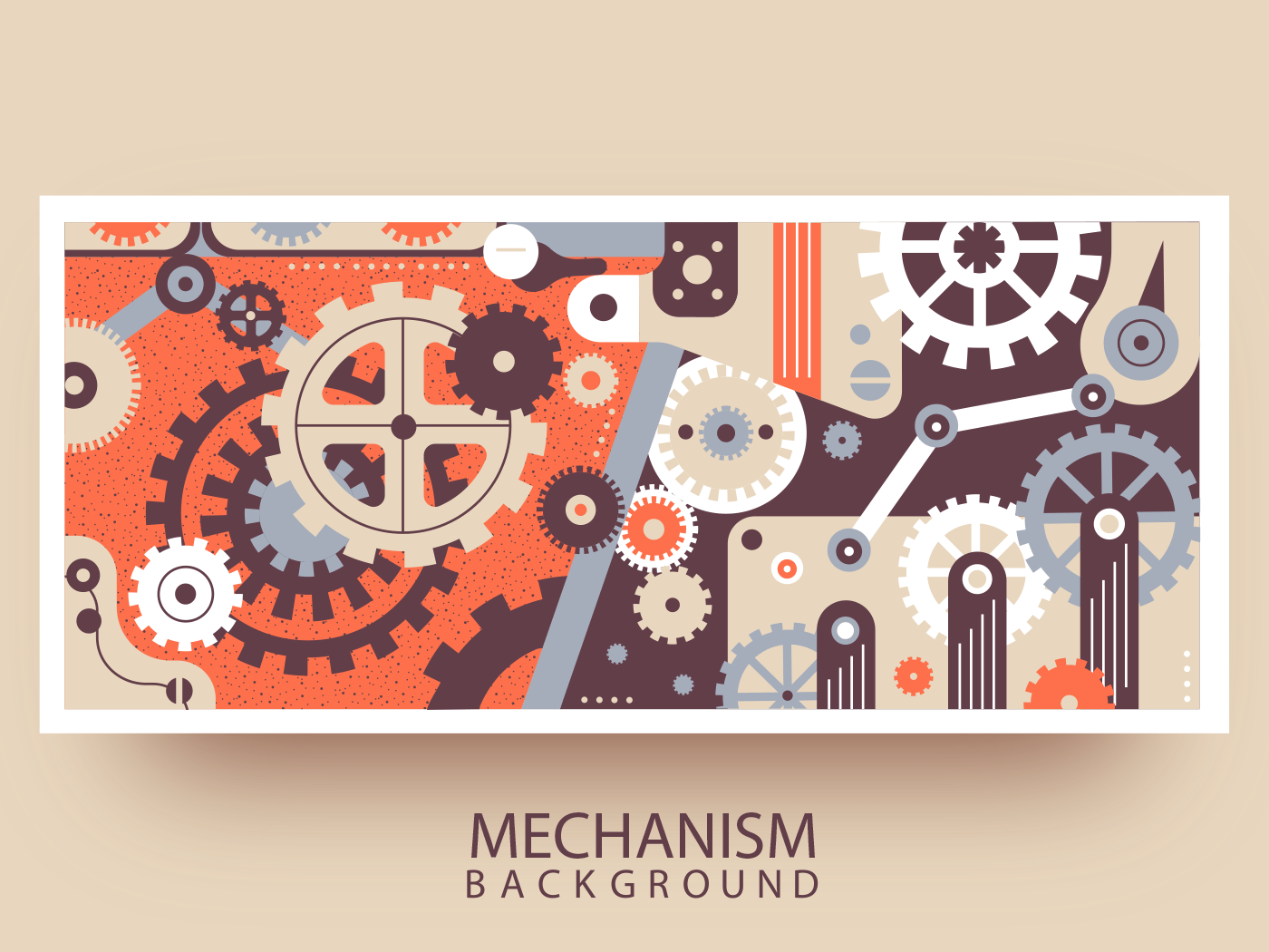 Mechanism abstract background