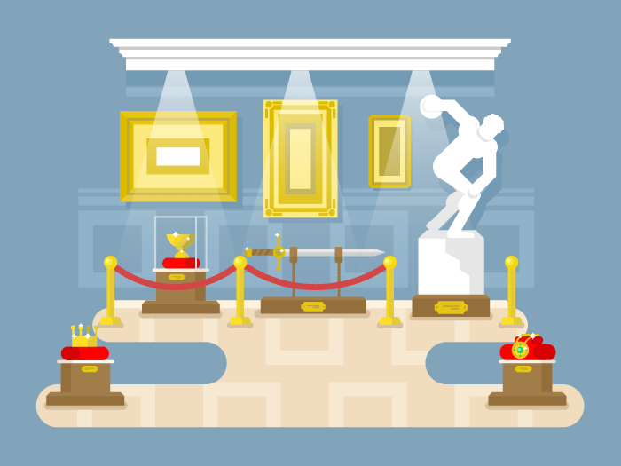 Museum flat design flat vector illustration