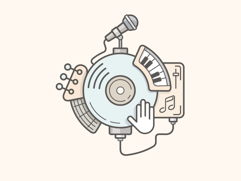Music line vector illustration