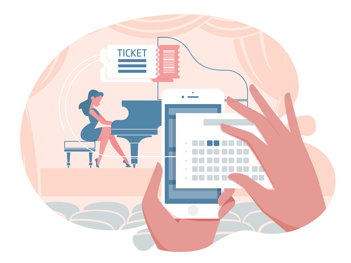 Online ticket for concert