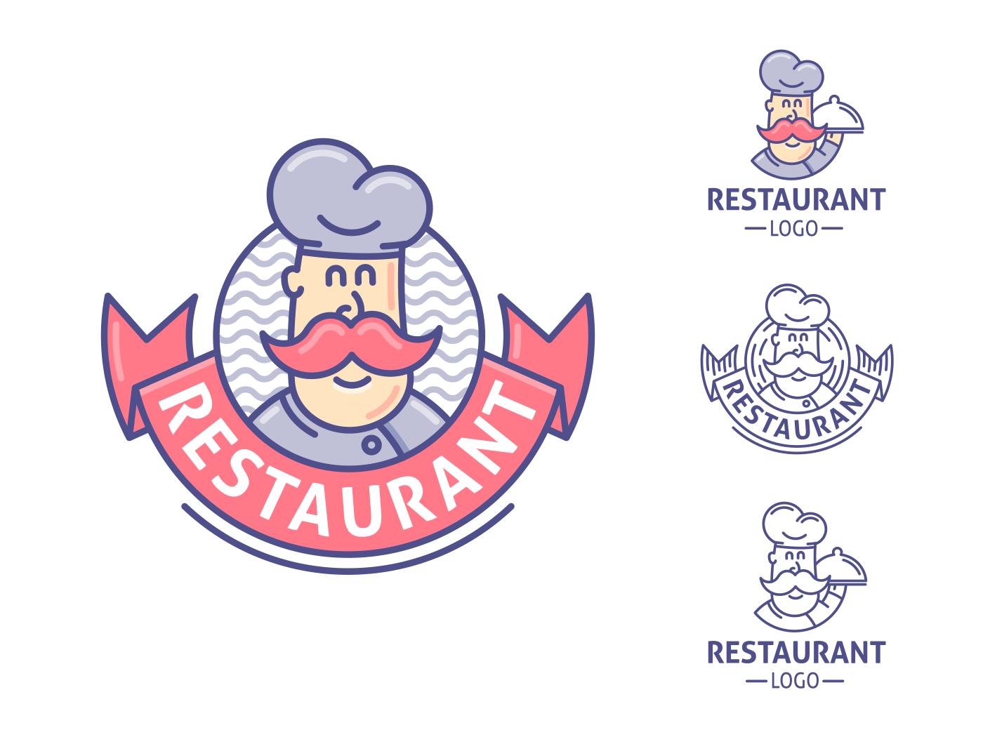 Restaurant, chef logo template