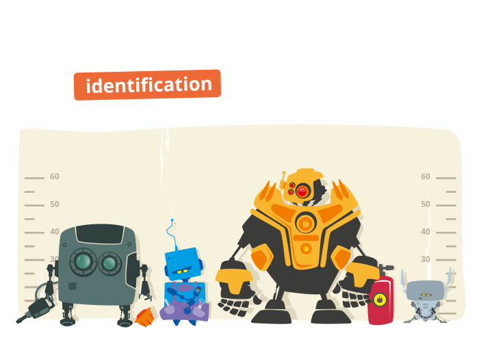Robot identification vector illustration