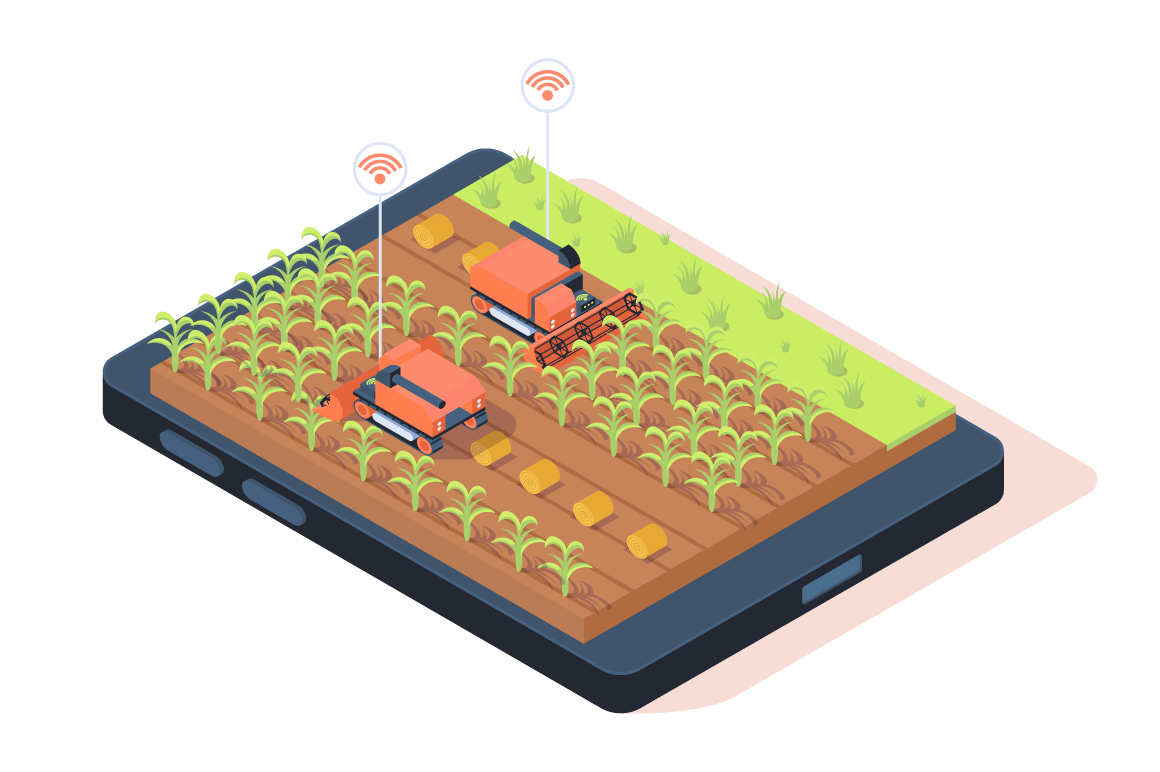 3d isometric smart farming with remote controle.