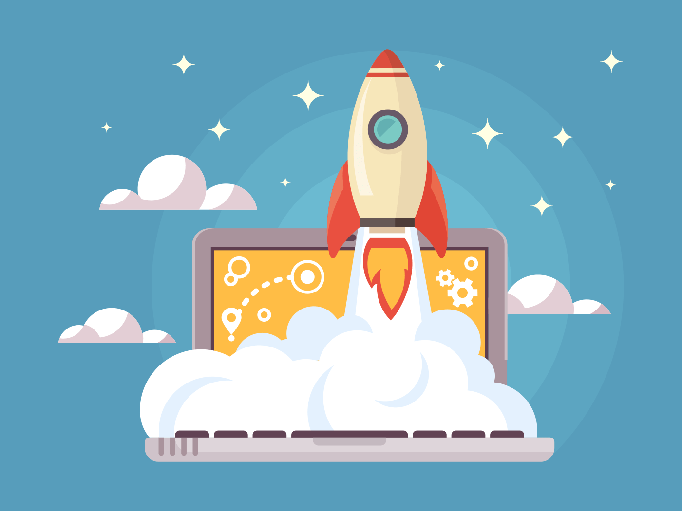 Web start up vector illustration