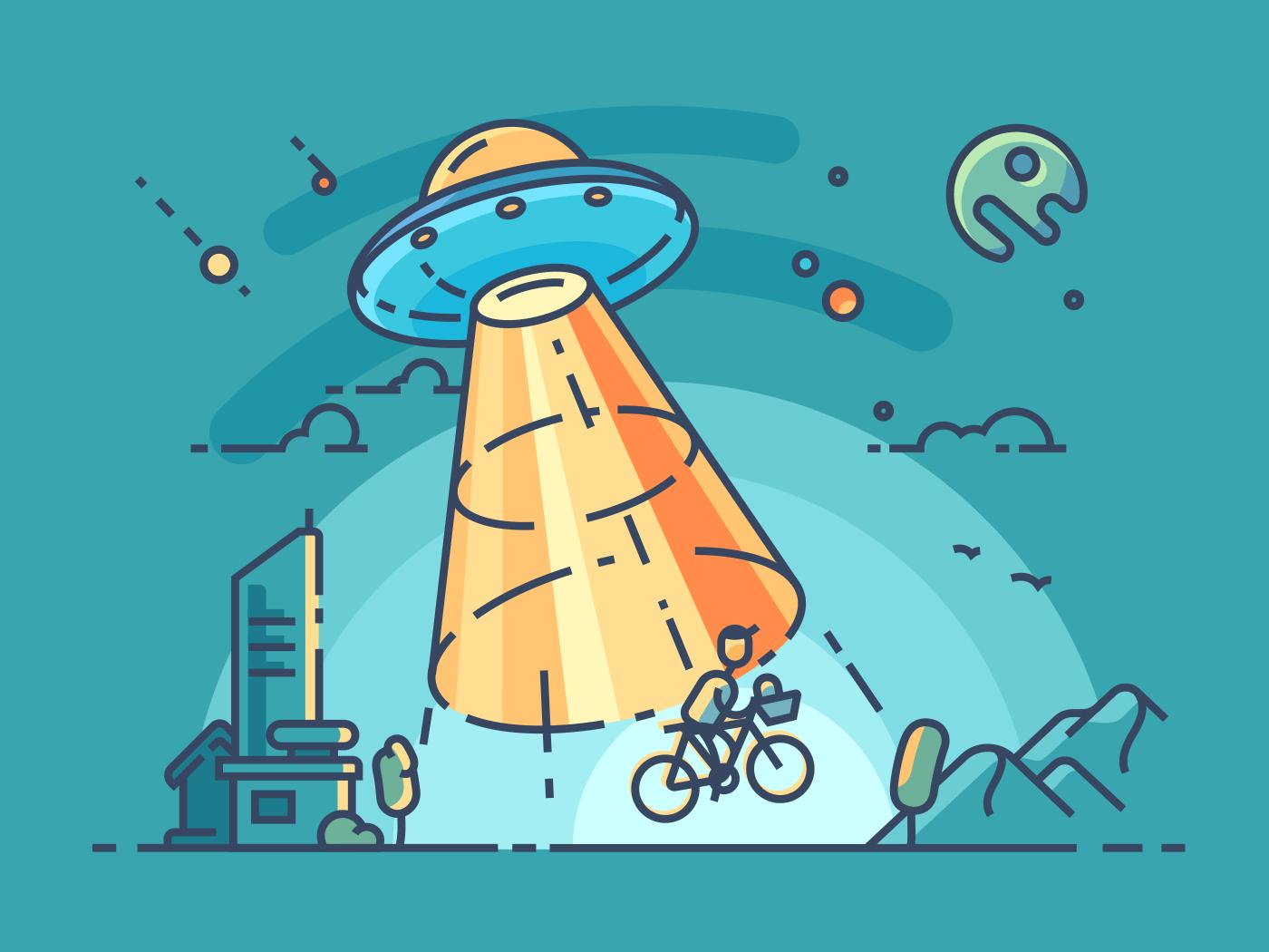UFO steals man