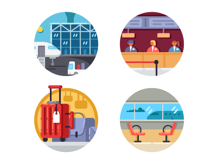 Airport set icons