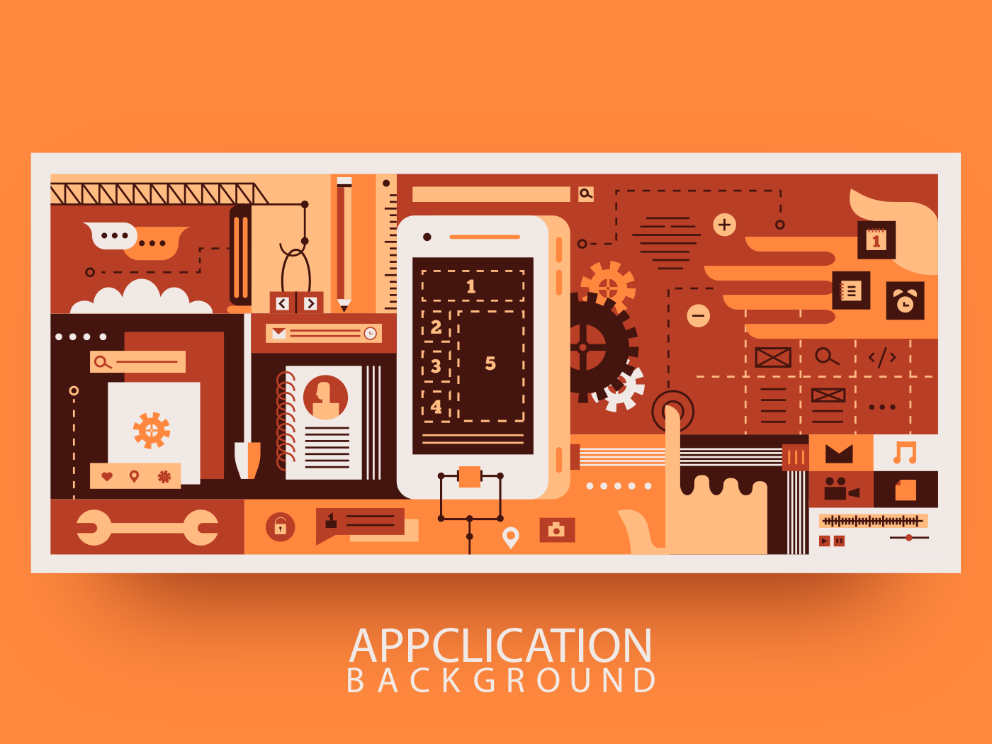 App design for mobile phone abstract background