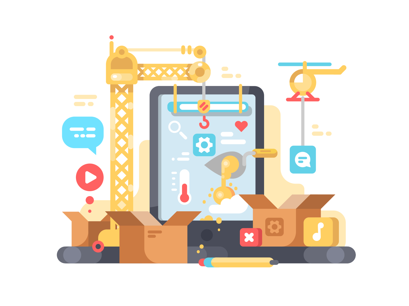 Creation and development of app illustration