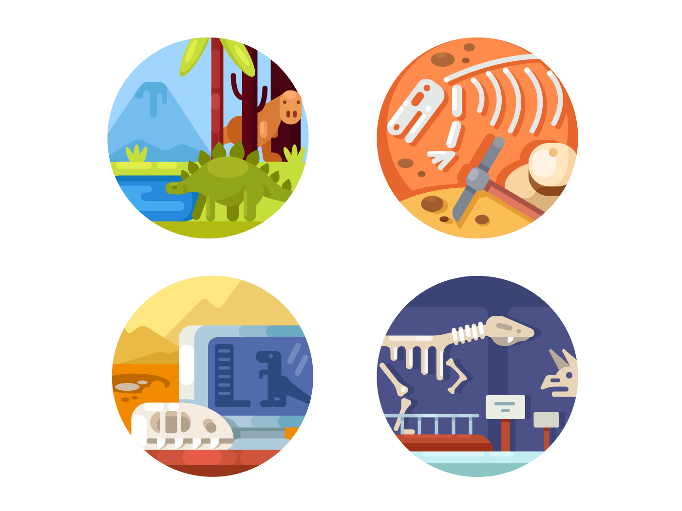Archeology set icons