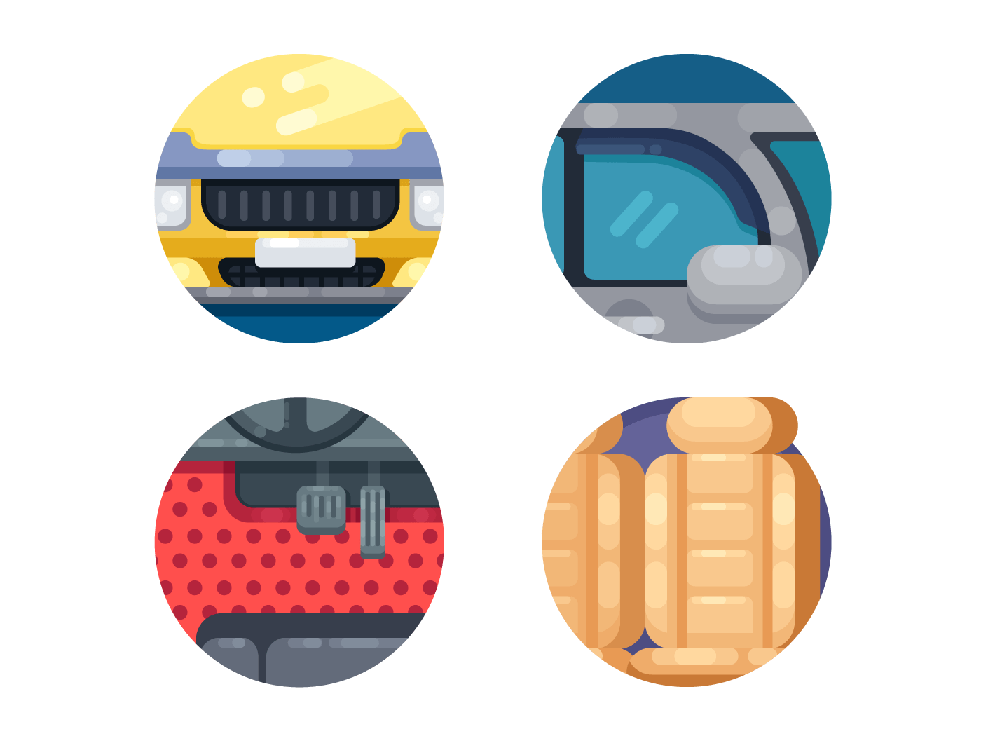 Car accessories icons