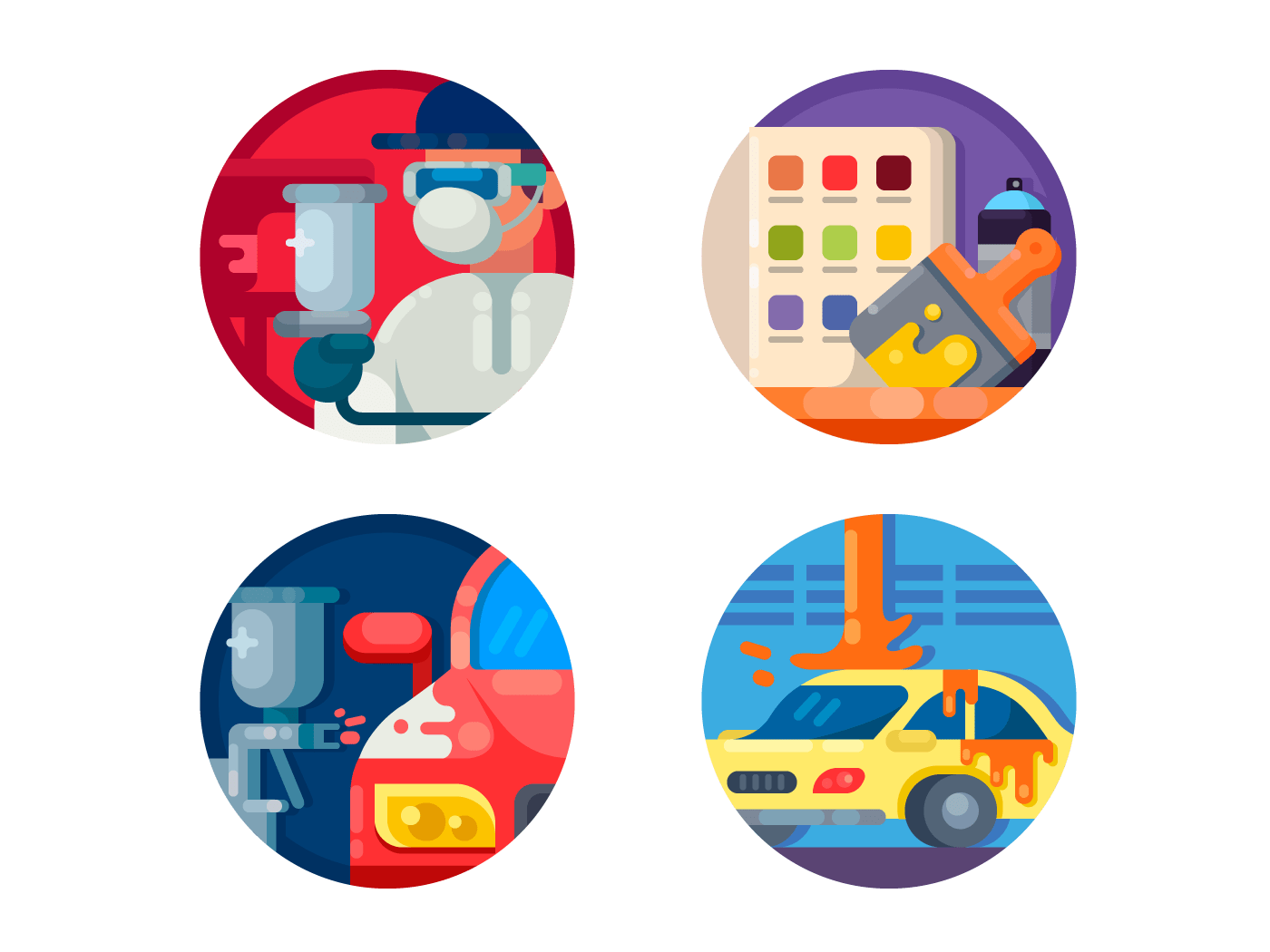 Auto painting icons