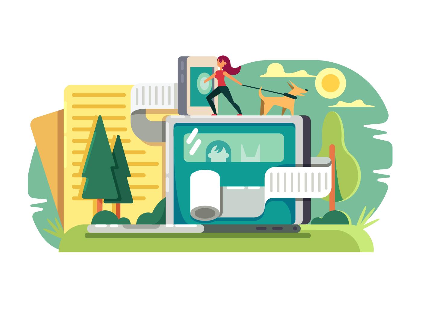 Web blog illustration
