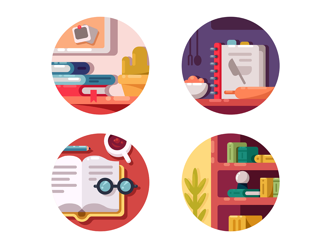 Books for education icons