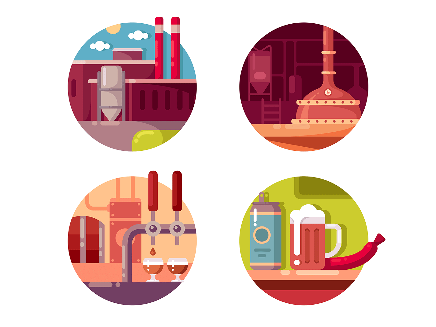 Process of brewing icons