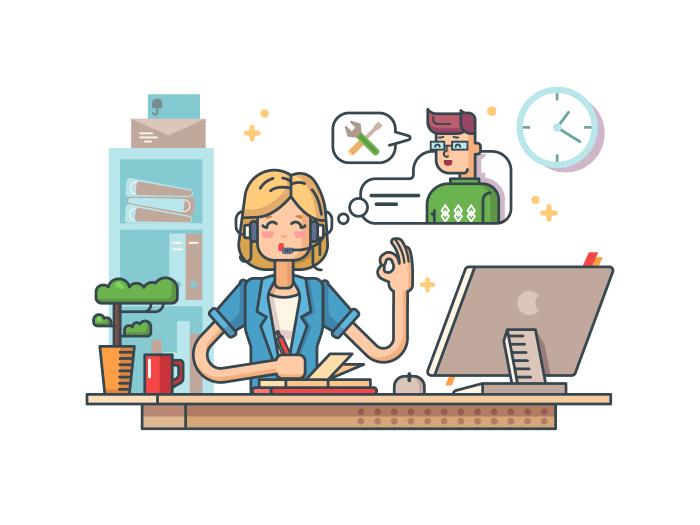 Call customer support illustration
