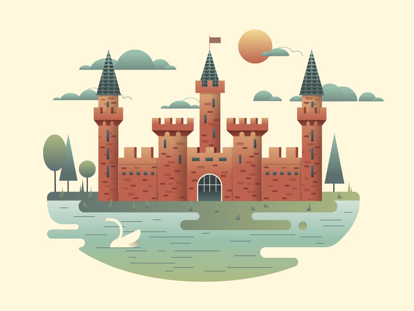 Castle design illustration