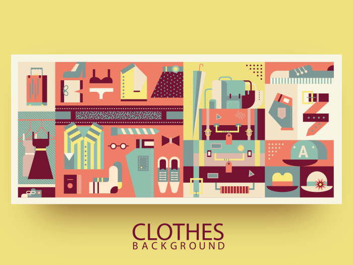 Clothes abstract background