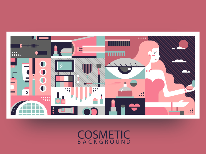 Cosmetic abstract background