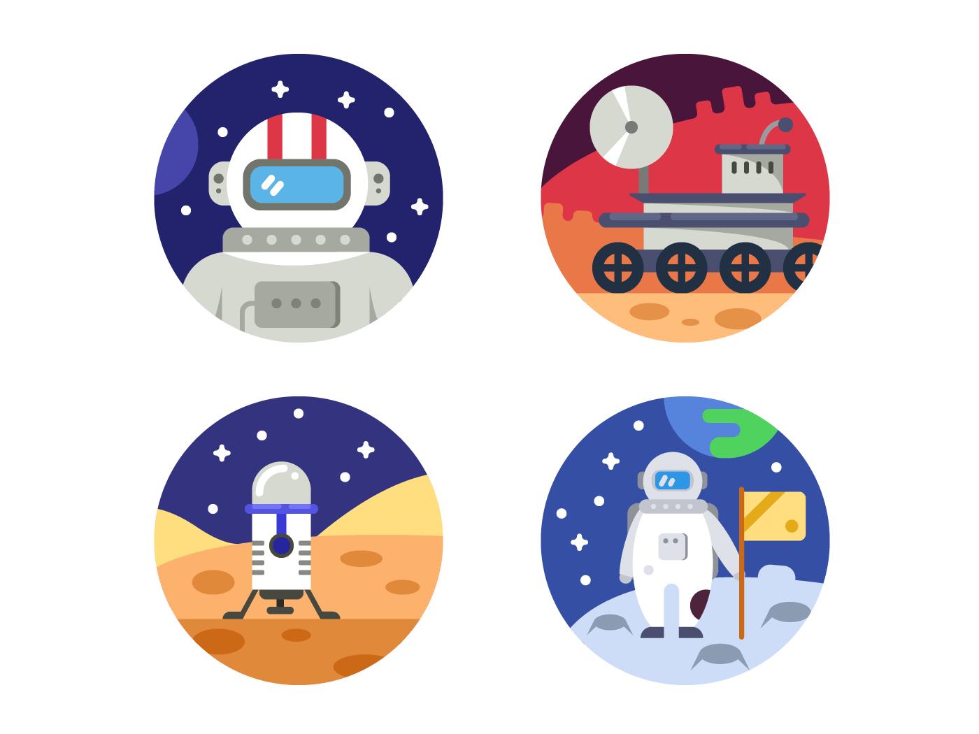 Cosmonaut icons