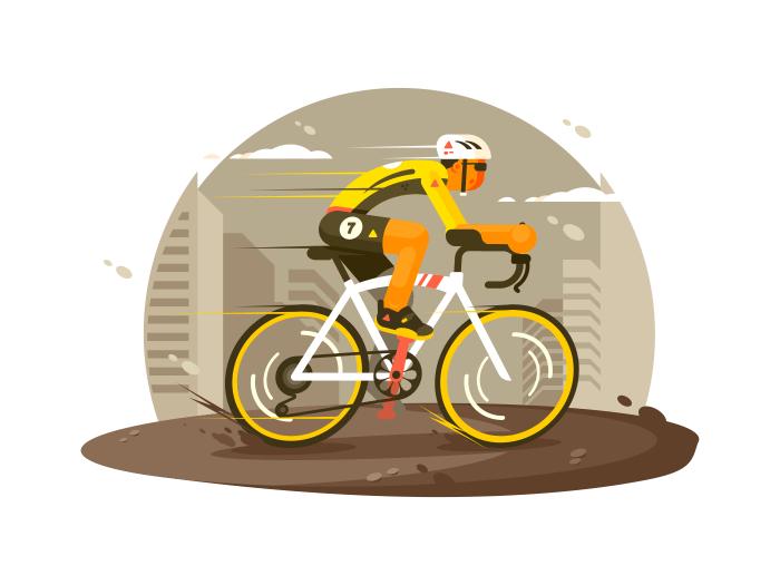 Sport athlete cyclist illustration