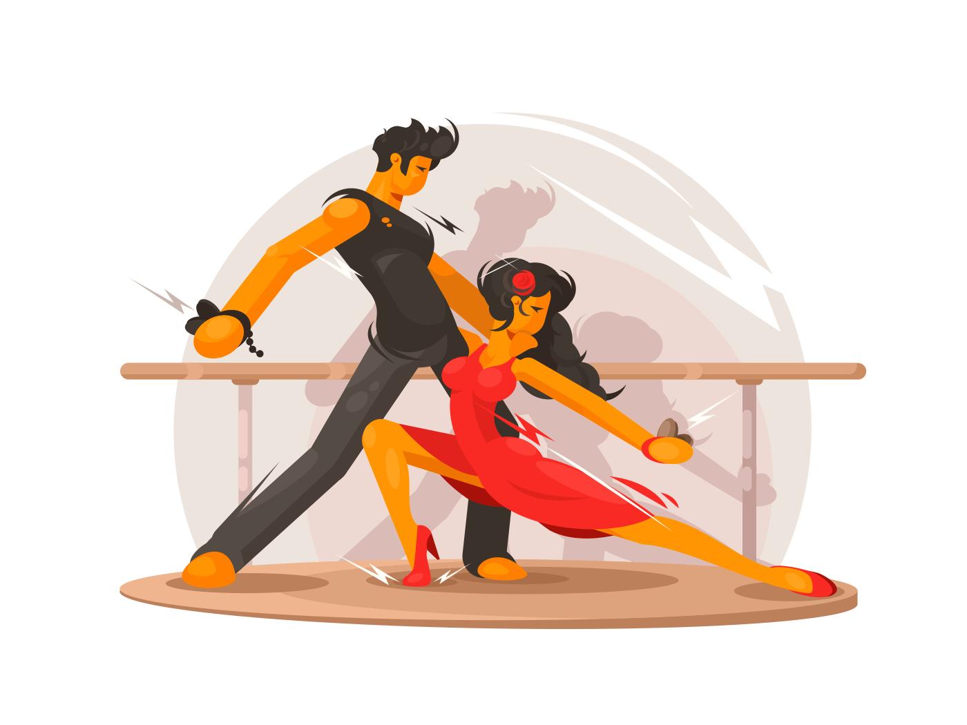 Dancing school illustration