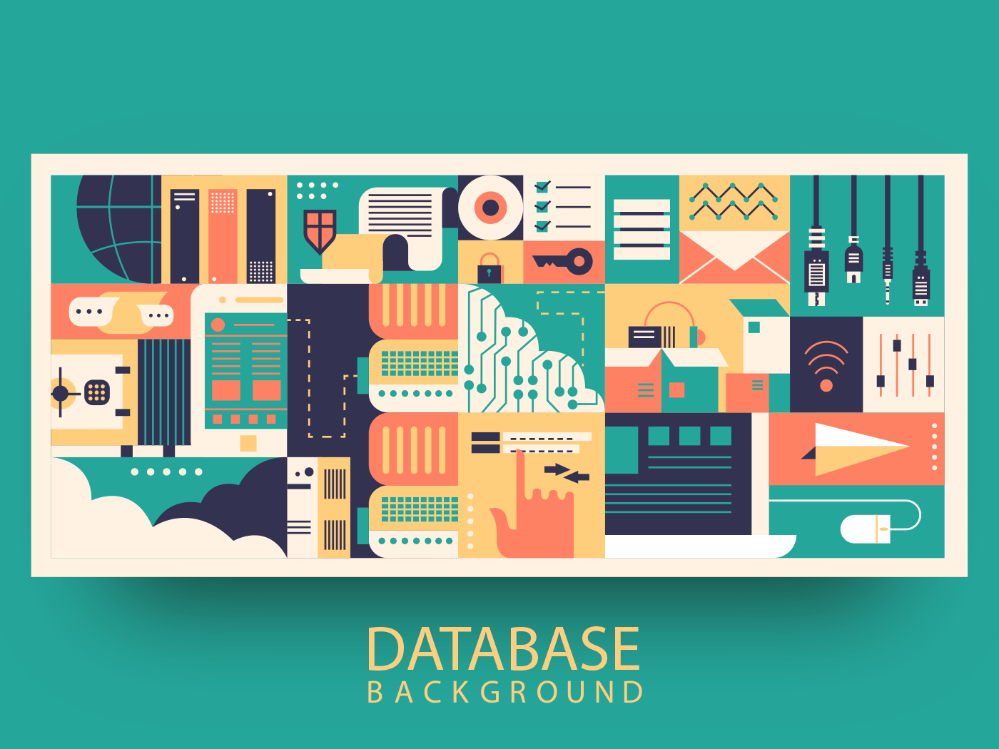 Cloud database abstract background